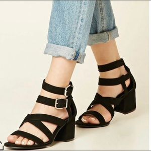 Sandal with small heel